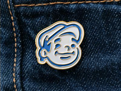 Dunn Lumber Pin logodesign denim pencil hat head mascot logo pins pin enamelpins enamel enamel pin enamelpin