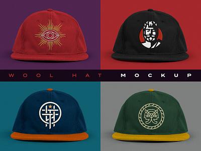 Hat Mockup Template creative market logo template logo wool hat photoshop template template mockup template mockup hat