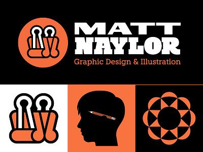 Personal Branding (2) brand identity branding kit brand kit freelancing freelancer freelance illustration graphic design lockup midcentury binder clip pencil logo design branding logo