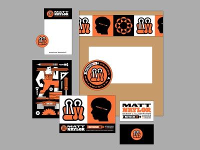 Personal Branding (4) stationary tape business cards postcard print design collateral logo branding
