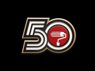 50 Years Enamel Pin enamel pins enamel pin enamelpin pin gold paint paint roller inline type inline customtype type 50 years anniversary 50