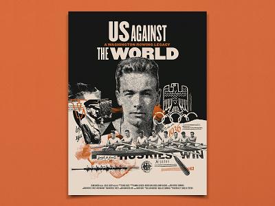 Us Against the World Poster print design bitmap halftone screenprint poster art documentary poster movie poster poster design film movie documentary collage poster