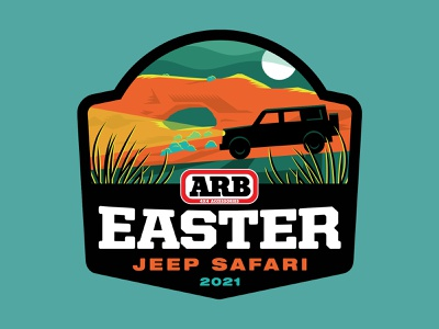 ARB Jeep Safari Sticker truck rocks mountain sky road grass night silhouette vehicle car headlight utah moab safari bronco ford moon jeep badge sticker