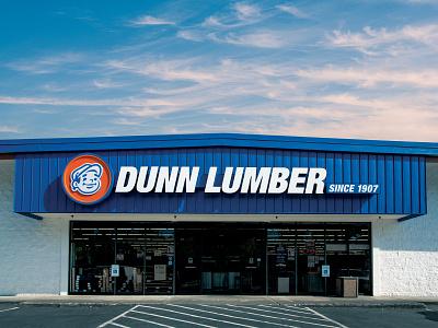 Dunn Lumber Bellevue Storefront exterior design store retail building design logodesign logo signage sign mascot design mascot store design storefront