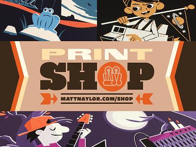 Shop Launch illustration print merch store forsale for sale art prints art gicleeprint giclee prints shop