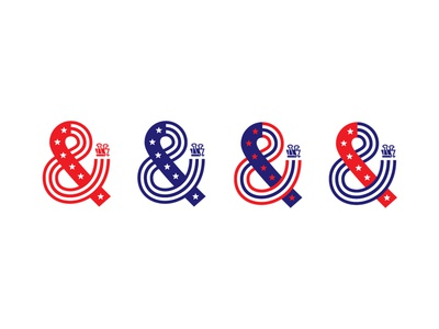 Amerisand ampersand design america flag stars usa fourth of july