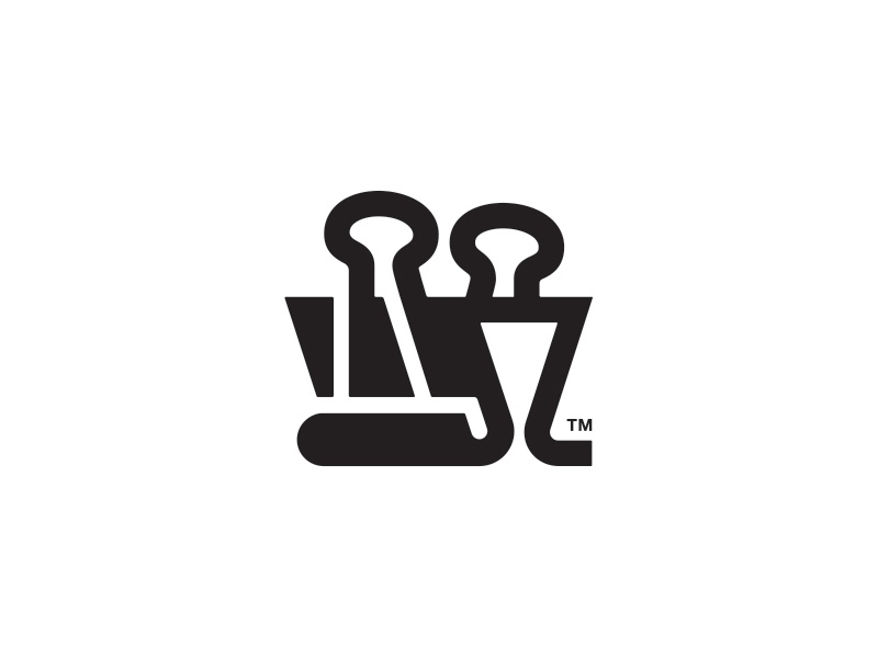 My logo gets an update binder clip paper clip branding brand mark identity logo design