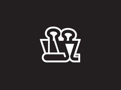 Knockout Version binder clip paper clip branding brand mark identity logo design