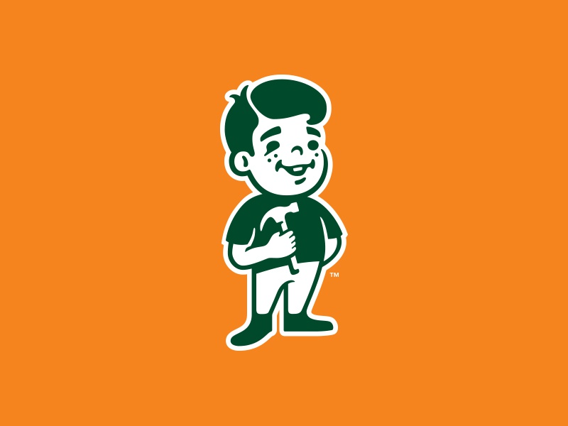 Kid Mascot 2 hammer character boy kid illustration design mascot