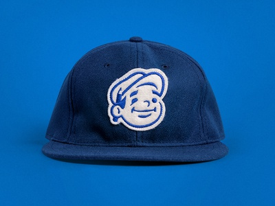 Dunn Lumber Hat face pencil logo mascot ebbets patch illustration character hat
