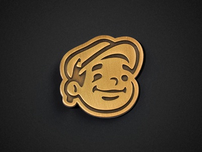 Dunn Lumber Pin character face pencil design illustration mascot gold pin enamel pin