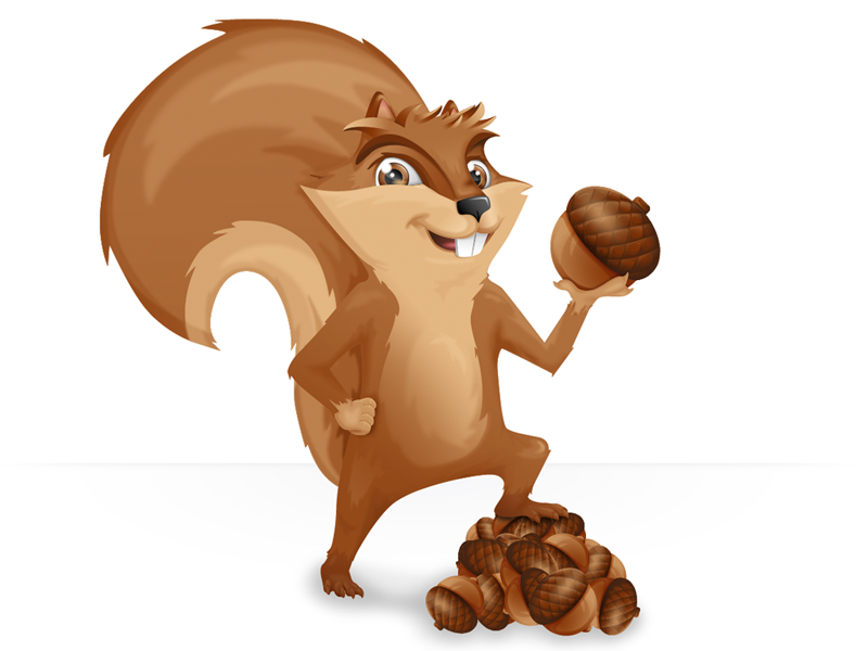 Squirrel Mascot by Jade LaJambe on Dribbble