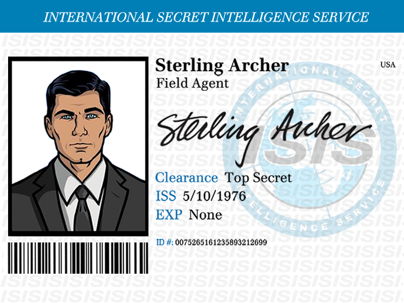 sterling archer id badge by dan held dribbble