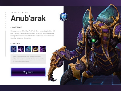 Heroes of the Storm Game Card game blizzard heroes of the storm card design ui