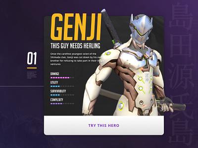 Cybernetic Ninja esports ui heroes of the storm game design card blizzard