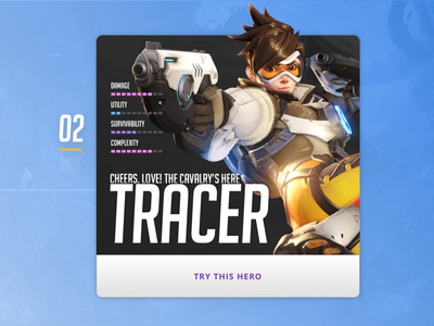 Agent of Overwatch overwatch ui heroes of the storm game esports design card blizzard