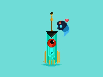 Transi-squirt heart supergiant games cute pixel art game bastion transistor