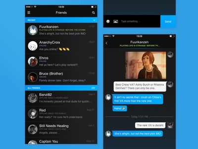 Steam Chat / Redesign ios valve gaming black chat app steam ui