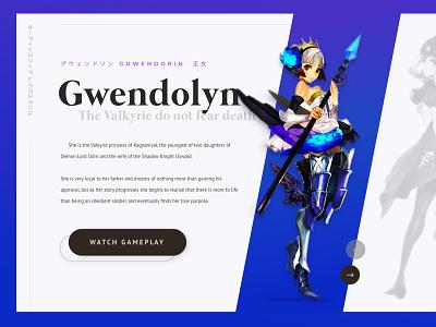 Odin's Sphere layout white blue minimal design ui video game odins sphere
