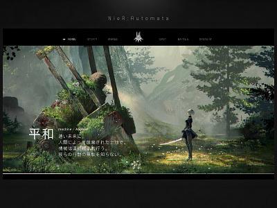 machine x Android video game slider black simple minimal design ui