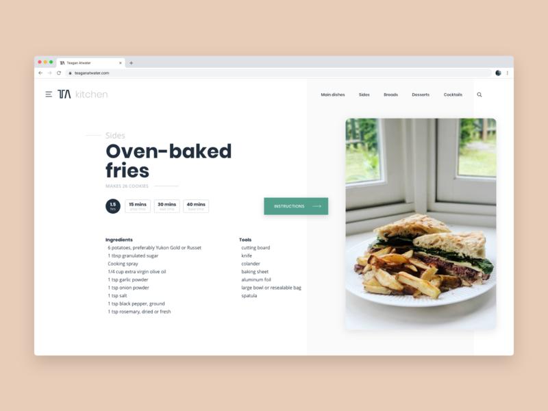 Cookbook Recipe opensans poppins food baking cooking kitchen bake cook desktop web flat ingredients recipe cookbook