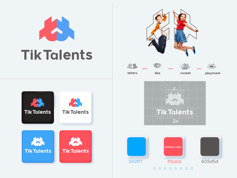 TikTalents logo identity designs talents logo identity branding logo