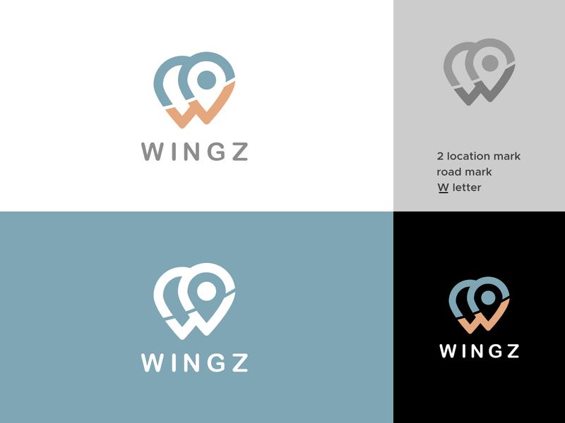 wingz -  logo inspiration wingz inspiration logo identity logo branding