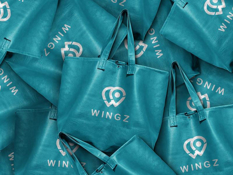 wingz- logo identity inspiration graphic design logo identity branding