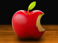 Real Apple Logo iPhone Wallpaper