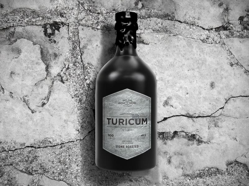 Turicum Bottle Design packaging mockup packaging bottle label design bottle gin