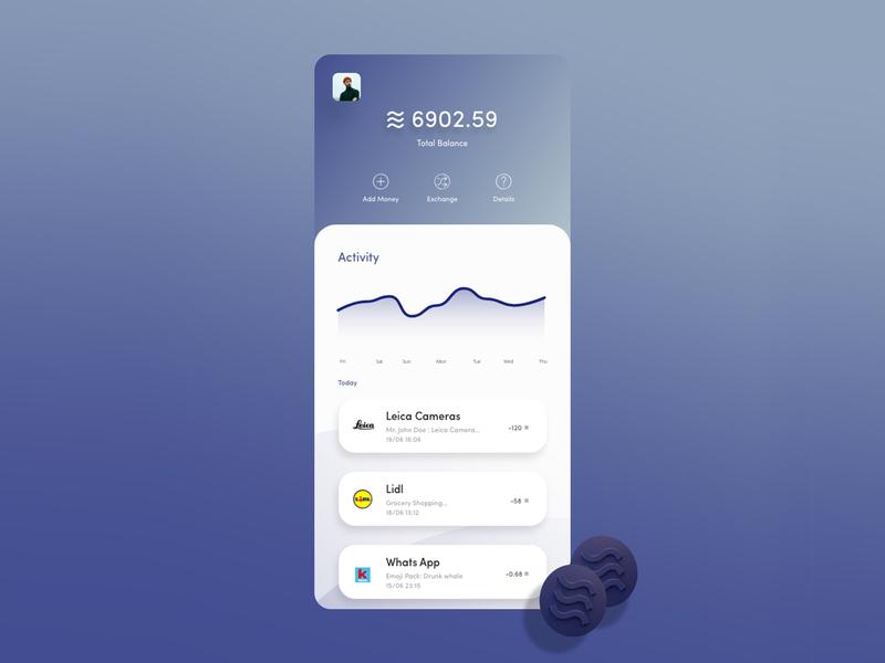 Libra Facebook Crypto calibra libra libracoin ui ux currency blockchain bitcoin crypto facebook dribble