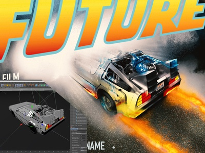 ''Back to the Future'' Poster recreation.