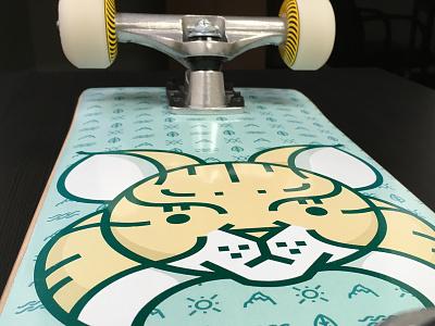 Bobcat Skateboard bobcat illustration skateboard