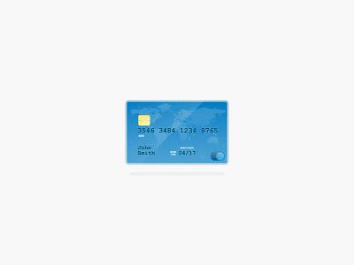Credit credit card illustration