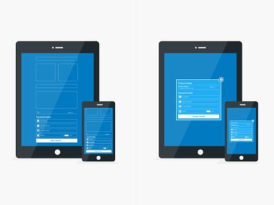 Platform Options tablet mobile iphone payments flat illustration