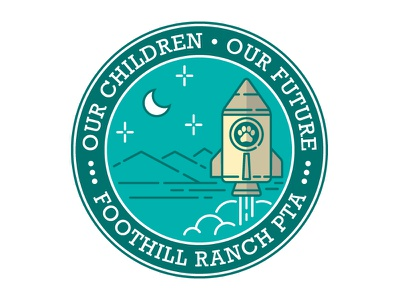Foothill Ranch PTA 2016 crest logo foothill pta school rocket space