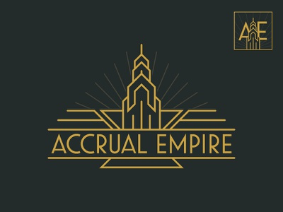 Accrual Empire Logo & Avatar gold new york empire state art deco 20s social media icon logo