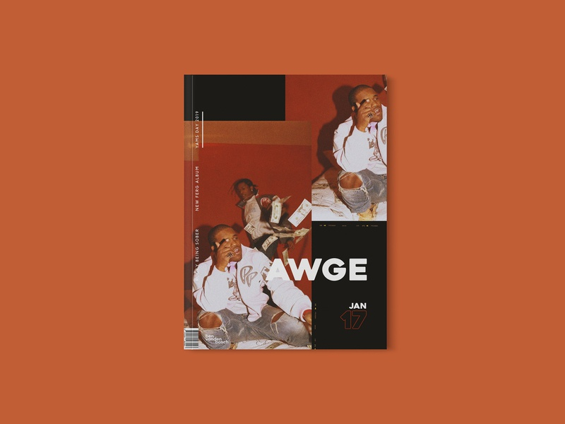 Magazine 01 - AWGE graphicdesign art cover magazine design