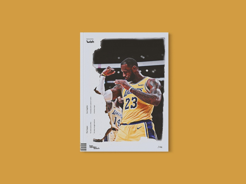 Magazine 02 - LEBRON JAMES magazine graphicdesign cover art design