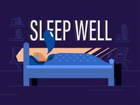 Sleep well illustration