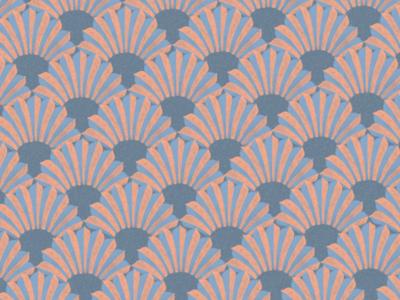 Art Deco palm pattern palm vintage retro mood interior decor wallpaper pastel geometric motif deco art pattern