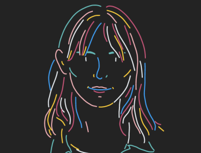 Marion person identity illustrator woman vector minimalist colors portrait drawing dessin illustration