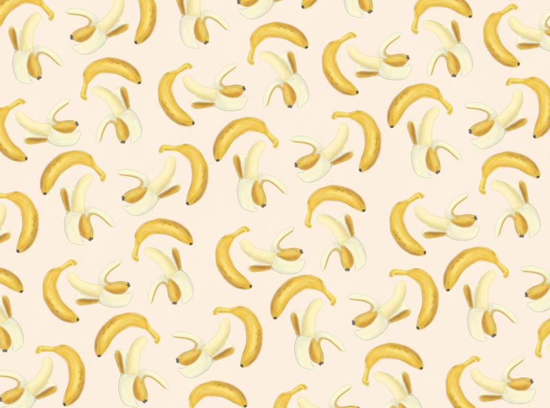 Capture d e cran 2020 04 27 a  11 27 57 fruit illustration exotic tropical fruit wallpaper yellow peel art pattern banana branding design jungle drawing dessin illustration