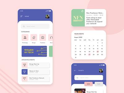 Meet-up App Design meet-up app events calendar event app meetup ui design