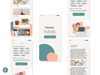Minimal Modern Blogging App concept blogging app blog blogging ux design app ui