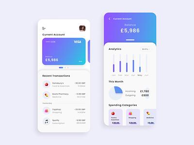 Mobile Banking App mobile app design fintech app fintech personal finances finance banking app banking mobile app mobile concept app ux ui design