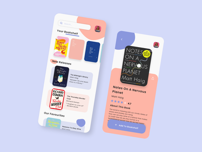 Bookstore App Concept bookshelf app bookshop books app bookshelf bookstore books mobile app design mobile app mobile concept app ux ui design