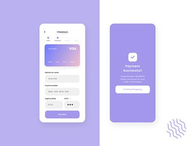 Credit Card Checkout Concept purple checkout ui checkout form mobile ux ui card checkout checkout dailyuidesign dailyuichallenge dailyui
