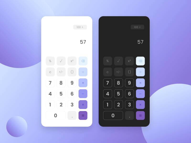 Calculator - Daily UI 004 calculator daily 100 challenge dark purple mobile app design ux ui mobile app mobile design design daily ui mobile ui mobile dailyuidesign dailyui004 dailyuichallenge dailyui