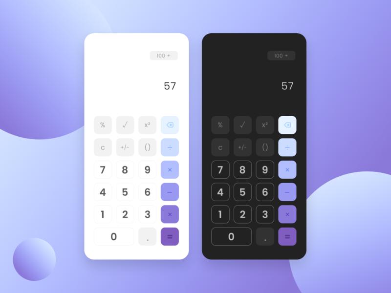 Calculator - Daily UI 004 calculator daily 100 challenge dark purple mobile app design ux ui mobile app mobile design design daily ui mobile ui mobile dailyuidesign dailyui004 dailyuichallenge dailyui